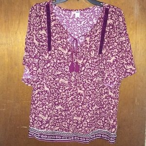 Old Navy Boho bell sleeve t-shirt floral size L